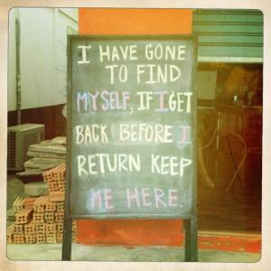 find myself